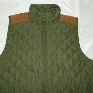 Chaps Jackets & Coats - Chaps Womens M Army Green  Diamond Vest